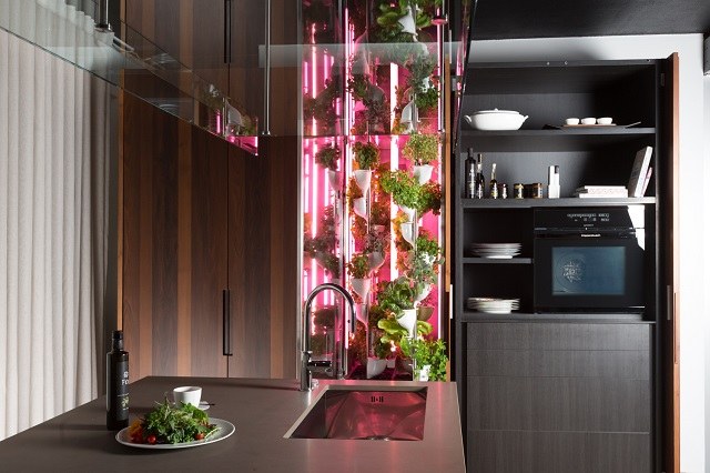 Natufia vertical herb and kitchen plant garden