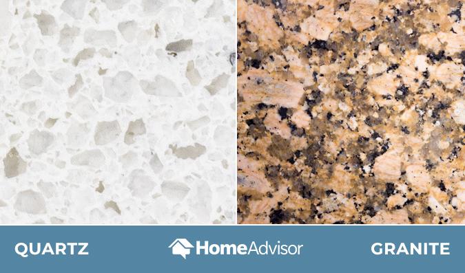 Comparison of quartz and granite countertops