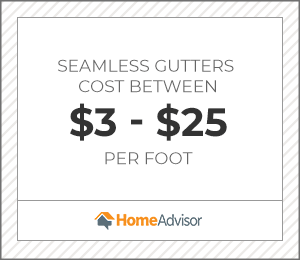 2020 Seamless Gutters Cost Average Prices Per Foot To