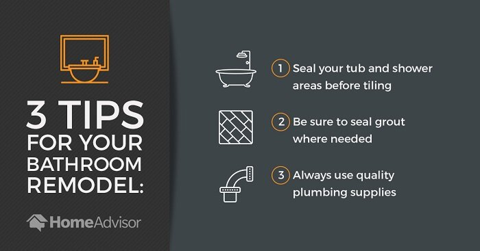 three tips for completing a bathroom remodel