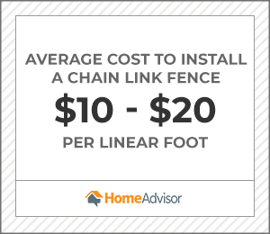 the average cost to install a chain-link fence is $10 to $20 per foot.