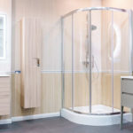clean enclosed shower doors