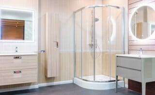clean enclosed shower doors