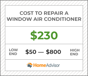 2020 Window Air Conditioner Repair Or Recharge Costs Portable Ac