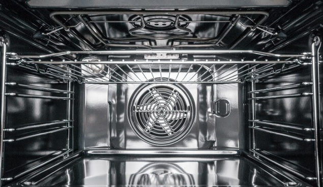 the inside of a very clean electric oven