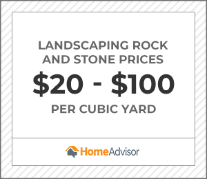 landscaping rocks and stones cost $30 to $100 per cubic yard.