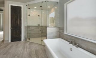 newly remodeled master bathroom