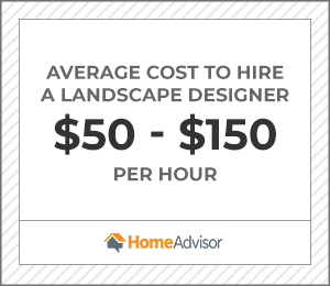 the average cost to hire a landscape designer is $50 to $150 per hour.