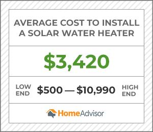 2020 Solar Water Heater Costs Installation Price Homeadvisor
