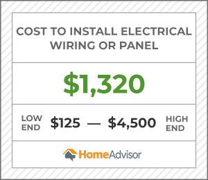 2020 Electrical Wiring Costs Installation Prices For Rewiring A Home Homeadvisor