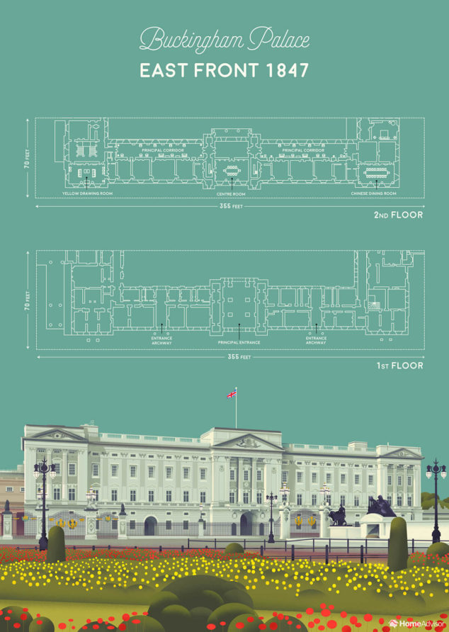 Royal Home Inspo The Floor Plan Of Buckingham Palace Homeadvisor