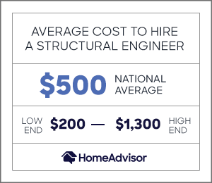 the average cost to hire a structural engineer is $500