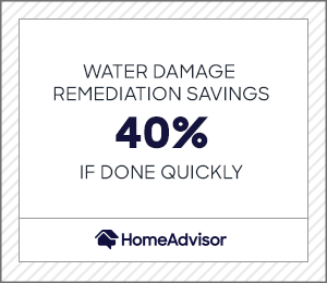 water damage remediation savings can be up to 40% if done quickly