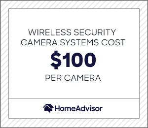 wireless security camera systems cost $100 per camera