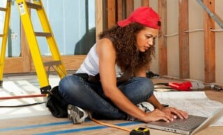 handy homeowner looking for a contractor online