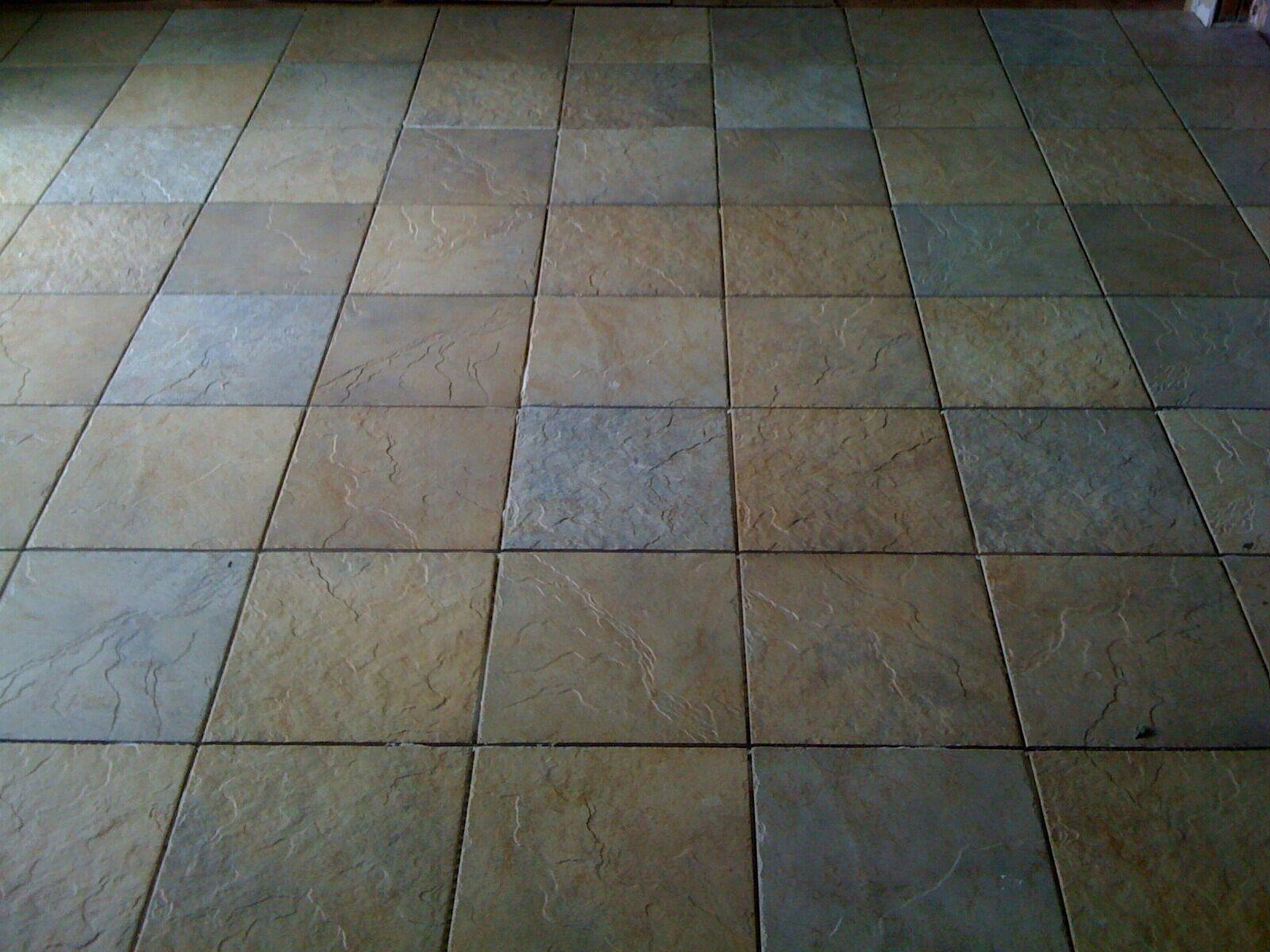 Newly installed tile flooring