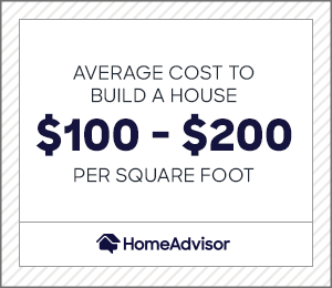 the average cost to build a house is $100 to $200 per square foot