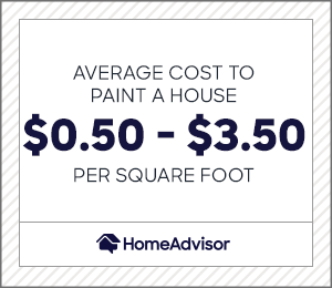2021 Cost To Paint A House Avg Exterior Painting Per Sq Ft Homeadvisor