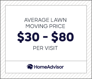 the average lawn mowing price is $30 to $80 per visit