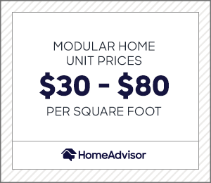 Modular home units are priced between $30 and $80 per square foot.