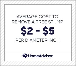 average cost to remove a tree stump is $2 to $5 per diameter inch.