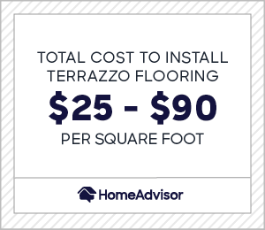 the average cost to install terrazzo flooring is $25 to $90 per square foot.