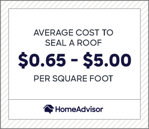 2021 Roof Coating Sealing Costs Price Per Square Foot Waterproofing Homeadvisor