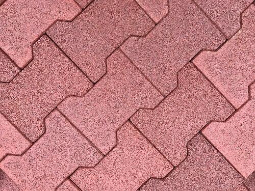 rubber dog-bone-shaped driveway tiles