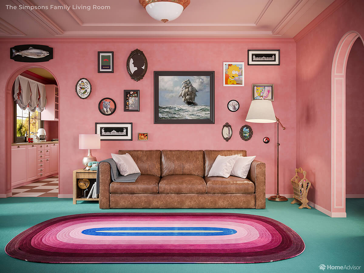 If Wes Anderson Designed The Simpsons Living Room