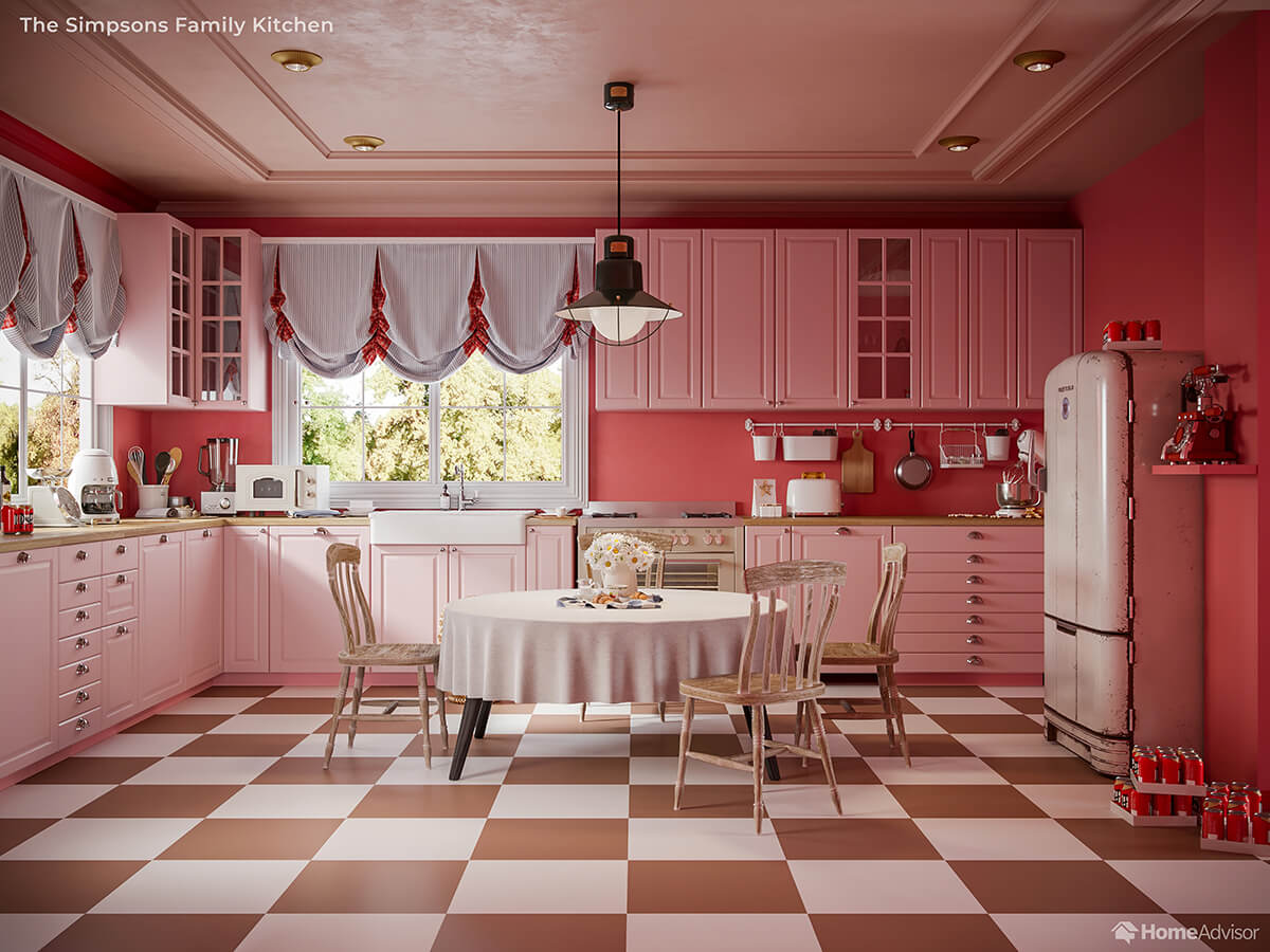 If Wes Anderson Designed The Simpsons Kitchen