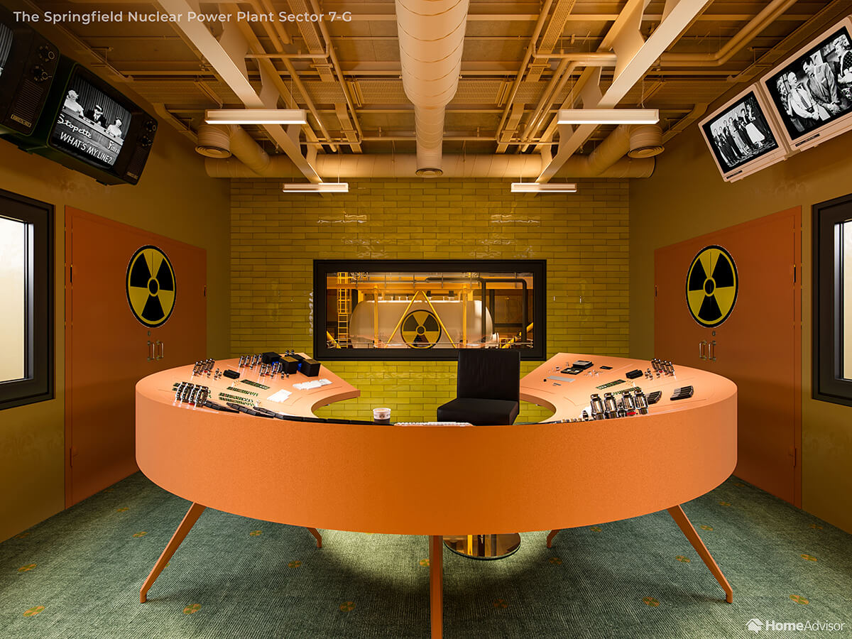 If Wes Anderson Designed The Simpsons Nuclear Power Plant