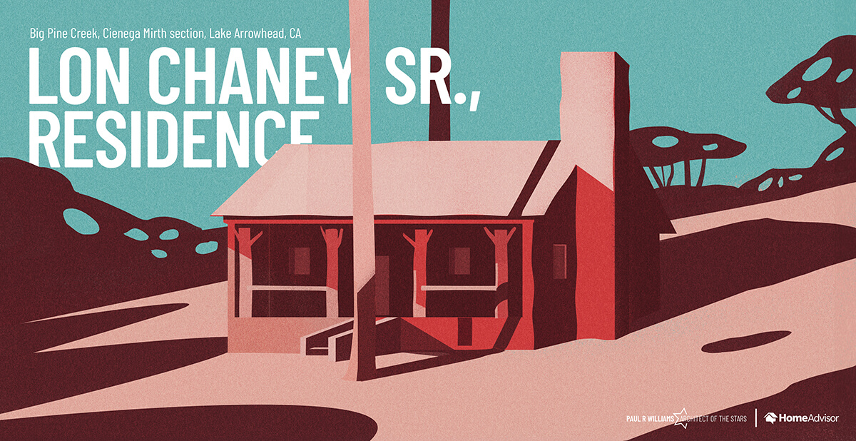 Lon Chaney Sr. house rendering
