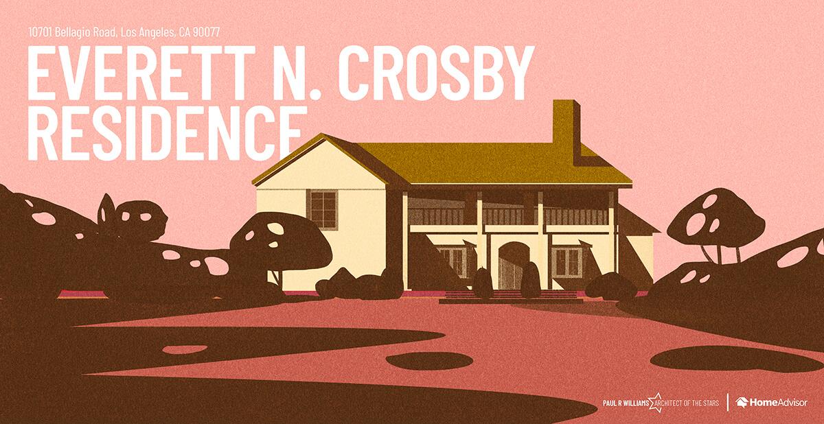 Everett N Crosby house rendering