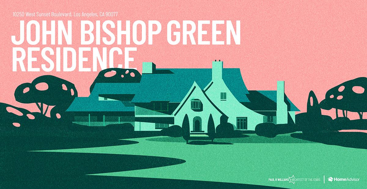 John Bishop house rendering