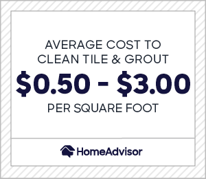 the average cost to clean tile and grout is $0.50 to $3.00 per square foot