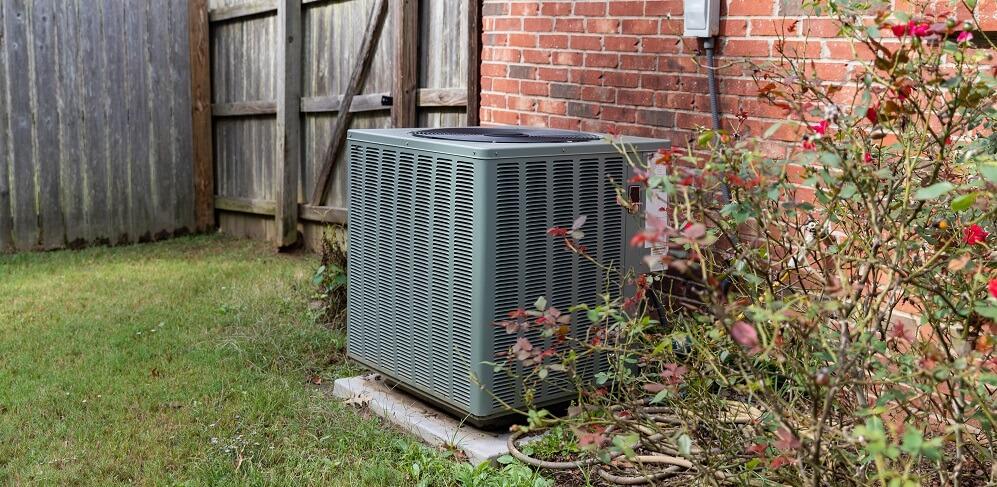 single AC unit outside house