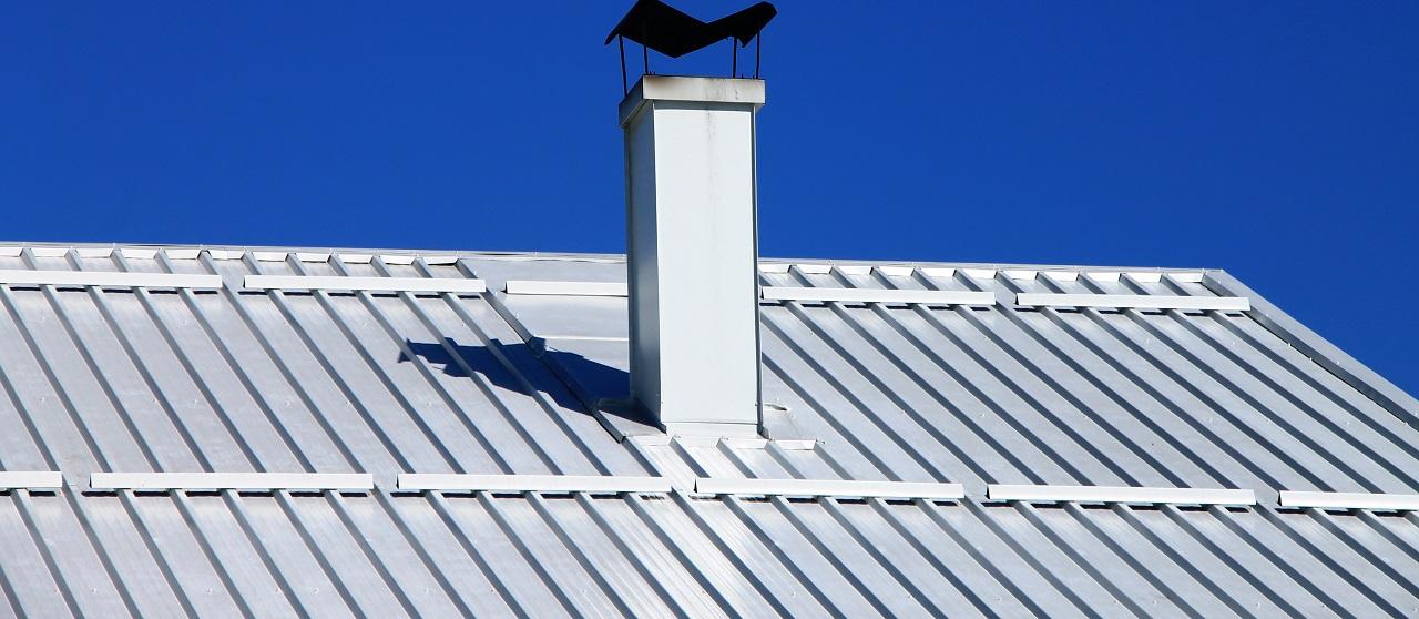 close-up of aluminum roof