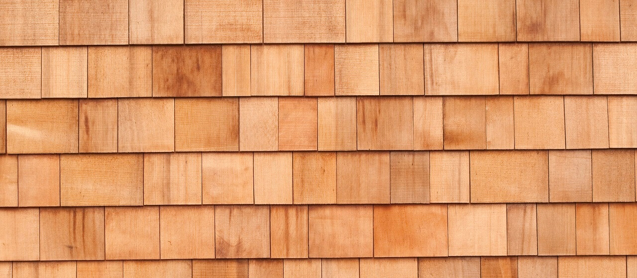 close-up of cypress siding