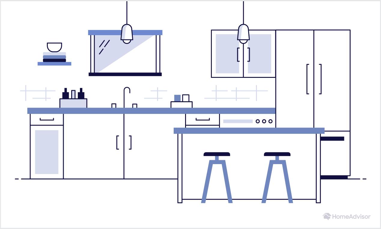 elements of a kitchen illustration