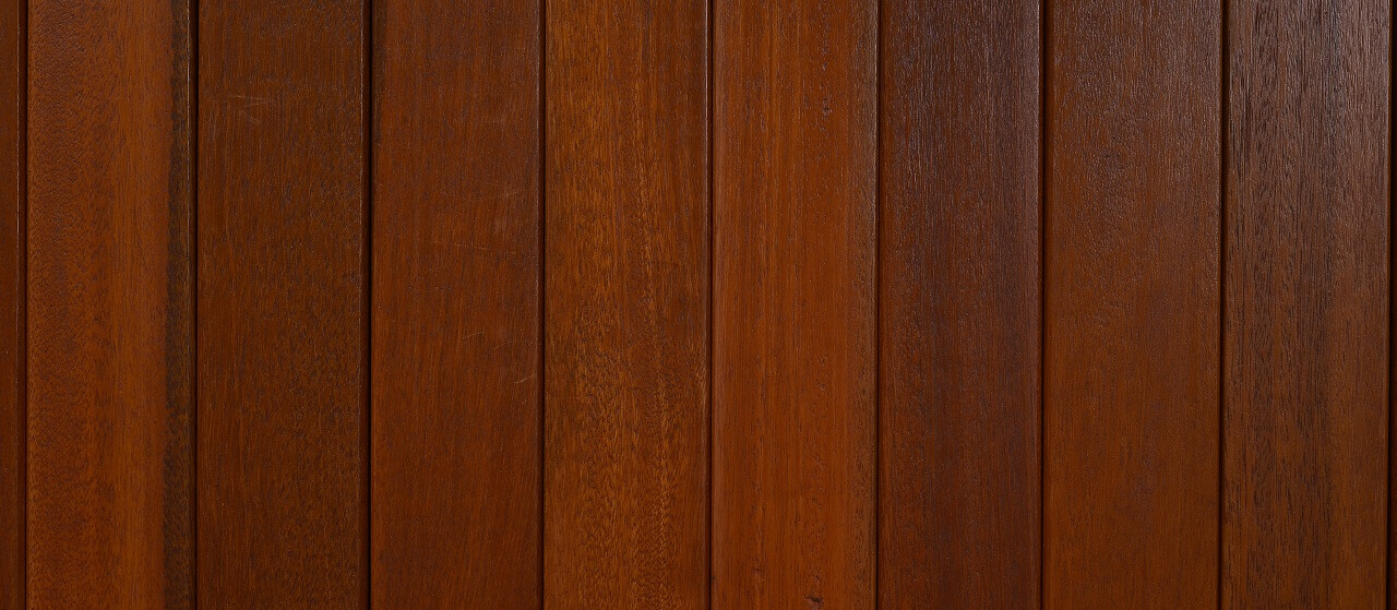 close-up of mahogany decking material