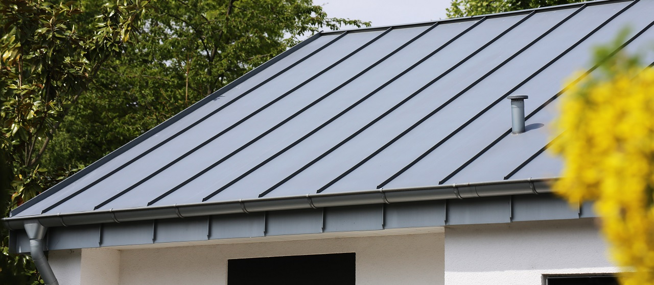 close-up of standing seam roof