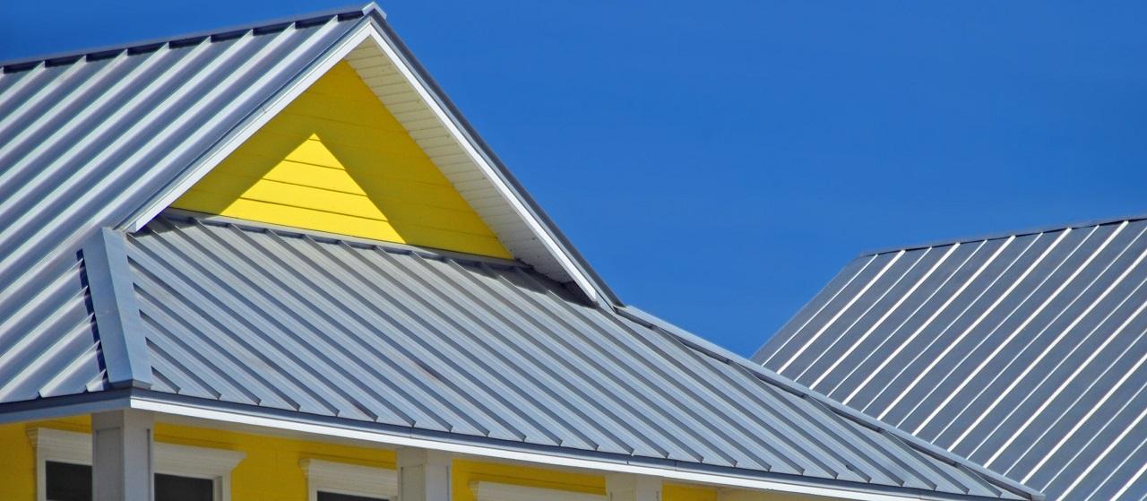 close-up of tin roof