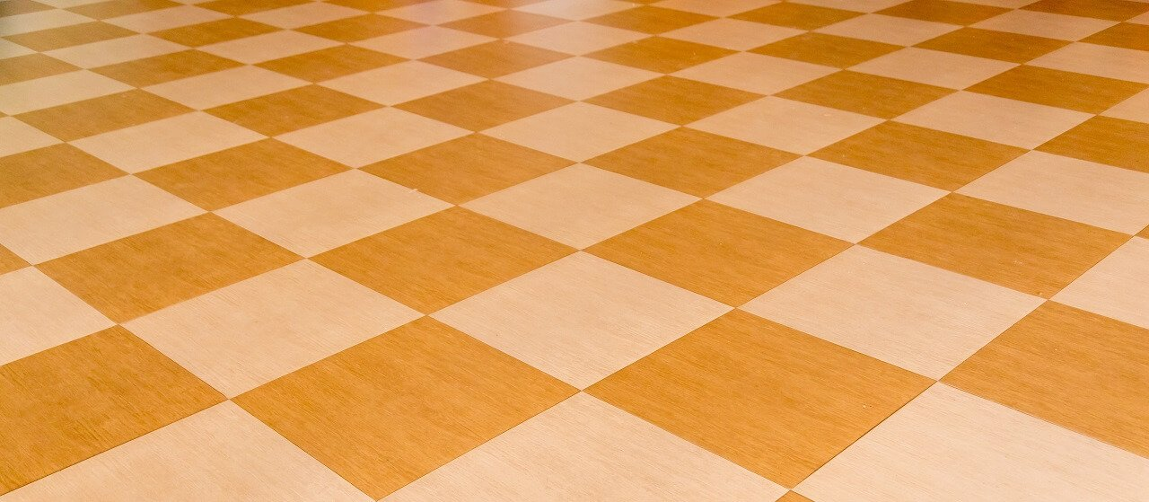 close up of vinyl tile