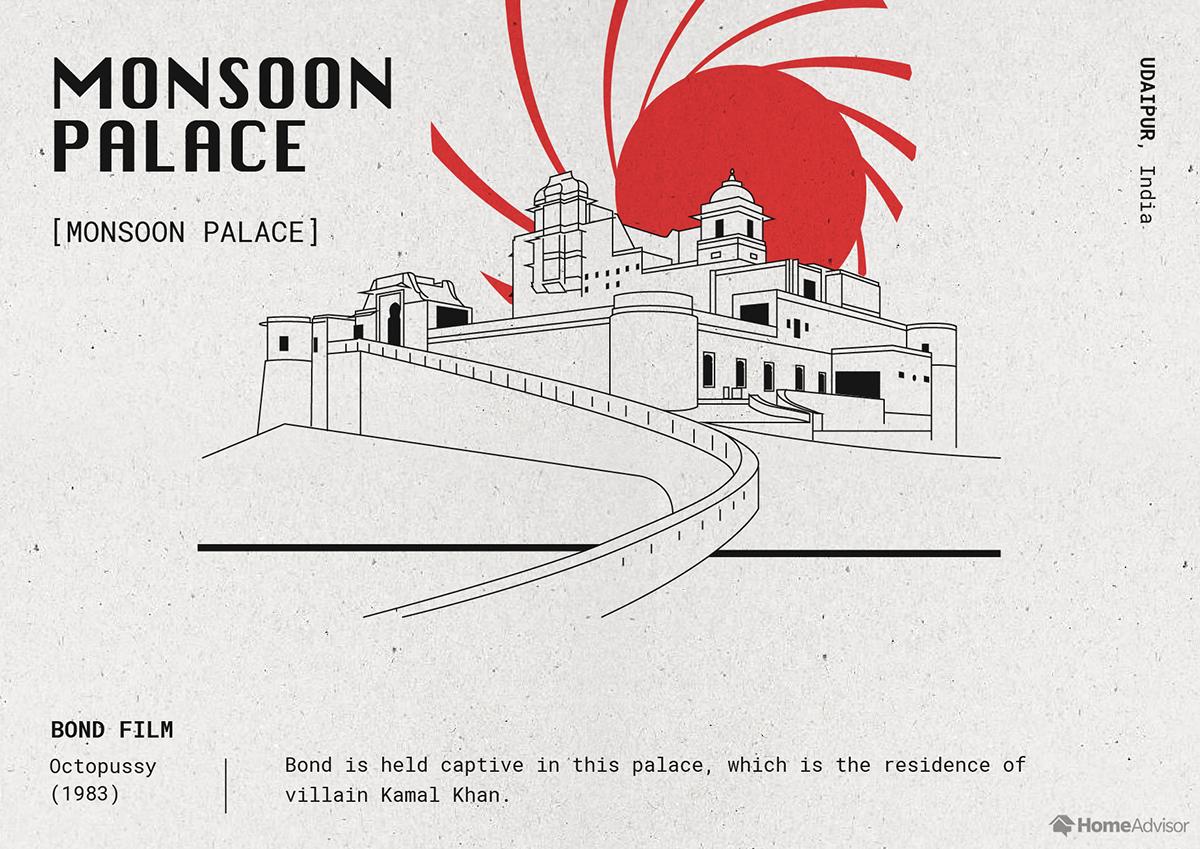 monsoon palace illustration