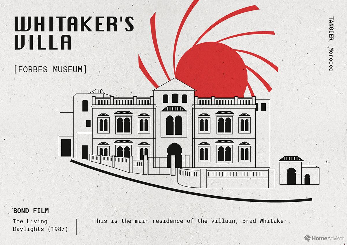 whitakers villa illustration