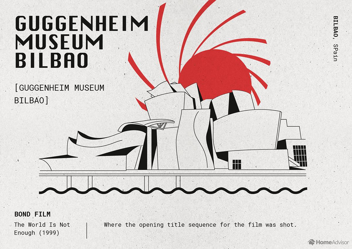 guggenheim museum bilbao illustration