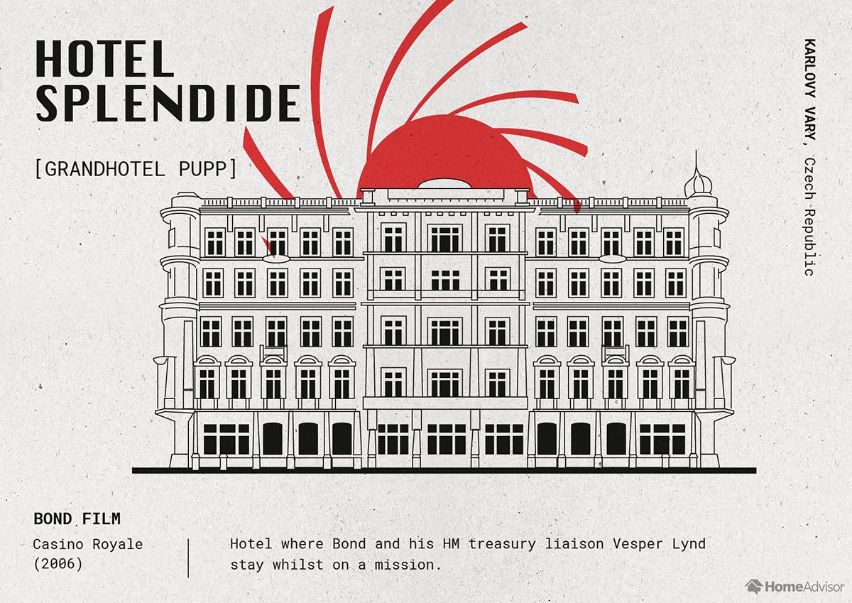 hotel splendide illustration