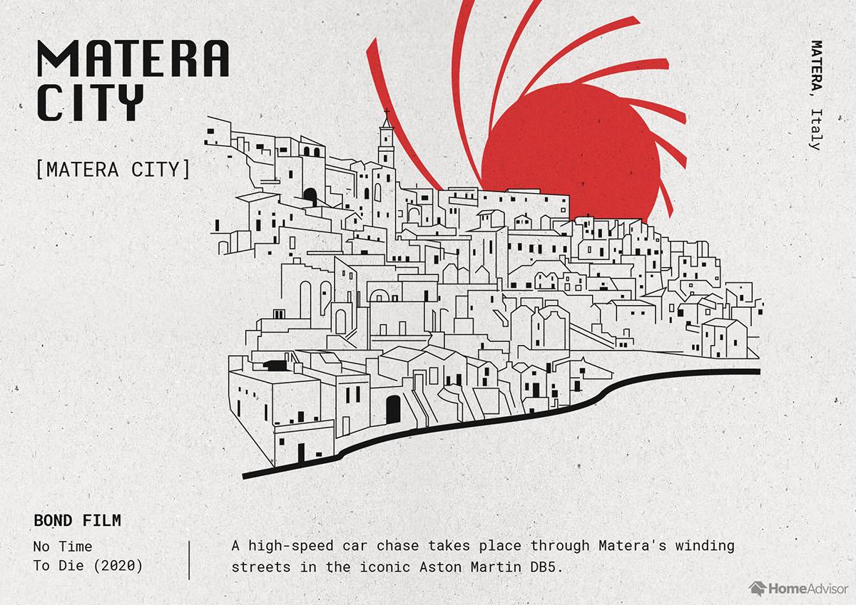 matera city illustration