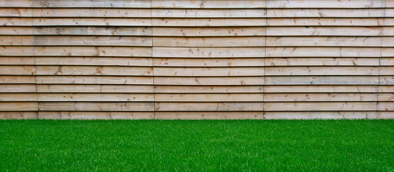 close-up of wood fencing