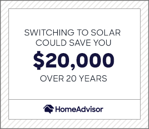 Switching to solar saves you $20,000 over 20 years